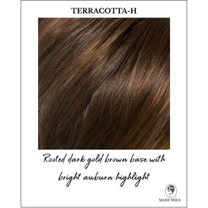 Terracotta-H-Rooted dark gold brown base with bright auburn highlight