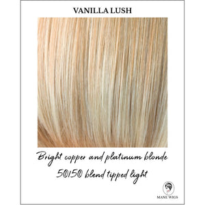 Vanilla Lush-Bright copper and platinum blonde 50/50 blend tipped light