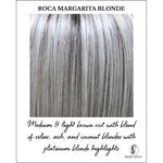 Load image into Gallery viewer, Roca Margarita Blonde-Medium & light brown root with blend of silver, ash, and coconut blondes with platinum blonde highlights