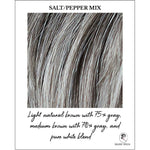 Load image into Gallery viewer, Salt/Pepper Mix-Light Natural Brown with 75% Gray, Medium Brown with 70% Gray, and Pure White Blend