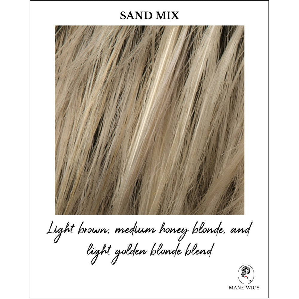 Sand Mix-Light brown, medium honey blonde, and light golden blonde blend