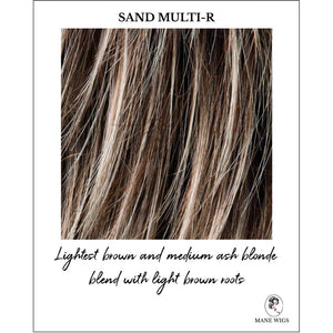 Sand Multi-R-Lightest brown and medium ash blonde blend with light brown roots