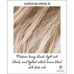 Load image into Gallery viewer, Sandy Blonde-R-Medium honey blonde, light ash blonde, and lightest reddish brown blend with dark roots