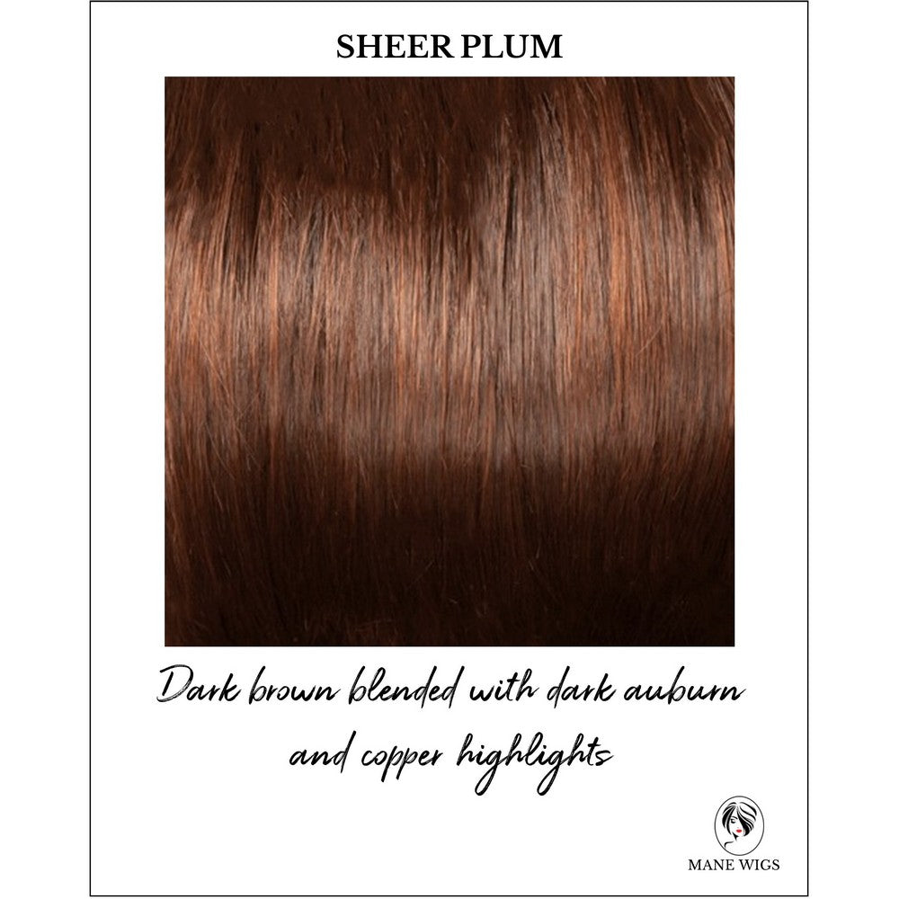 Sheer Plum-Dark brown blended with dark auburn and copper highlights