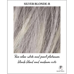 Silver Blonde-R-Pure silver white and pearl platinum blonde blend and medium roots