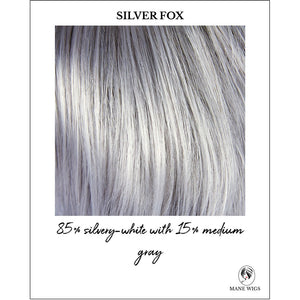 Silver Fox-85% silvery-white with 15% medium gray
