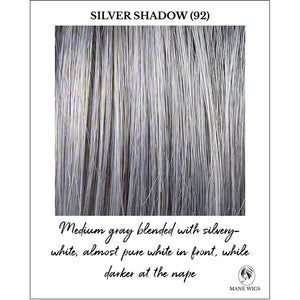 Silver Shadow (92)-Medium gray blended with silvery-white, almost pure white in front, while darker at the nape