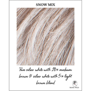 Snow Mix-Pure silver white with 10% medium brown & silver white with 5% light brown blend