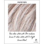 Load image into Gallery viewer, Snow Mix-Pure silver white with 10% medium brown & silver white with 5% light brown blend