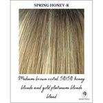 Load image into Gallery viewer, Spring Honey-R-Medium brown rooted, 50/50 honey blonde and gold platinum blonde blend