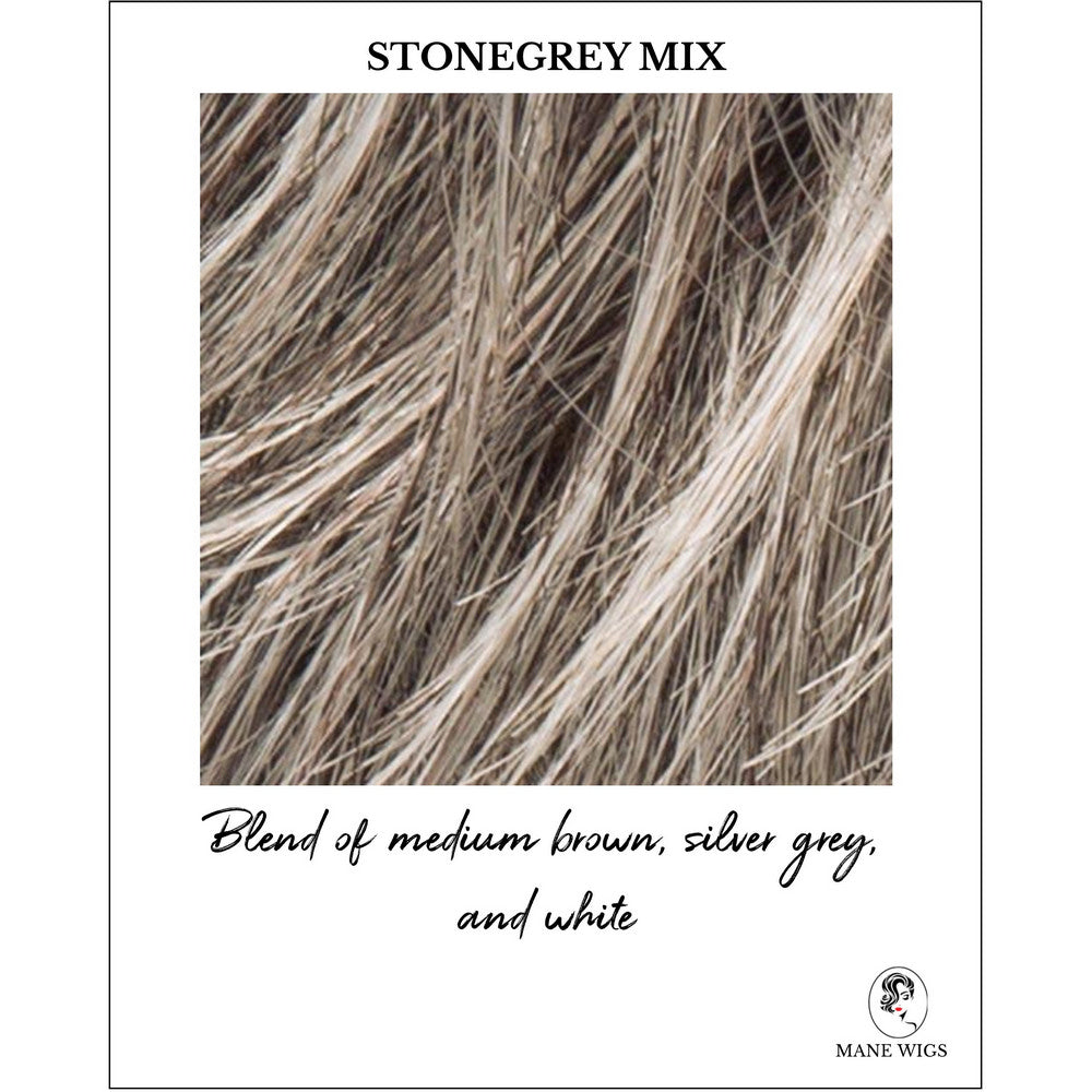 Stone Grey Mix-Blend of medium brown, silver grey, and white