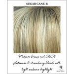 Load image into Gallery viewer, Sugar Cane-R-Medium brown root, 50/50 platinum & strawberry blonde with light auburn highlight