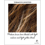 Load image into Gallery viewer, Tobacco Lighted-Medium brown base blended with light auburn and light golden blonde
