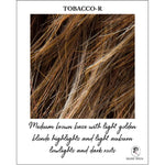 Load image into Gallery viewer, Tobacco-R-Medium brown base with light golden blonde highlights and light auburn lowlights and dark roots