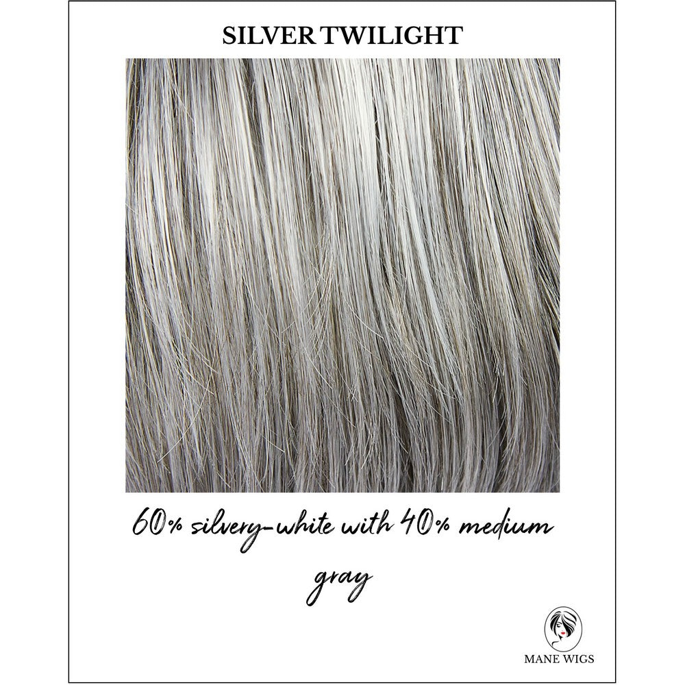 Silver Twilight-60% silvery-white with 40% medium gray