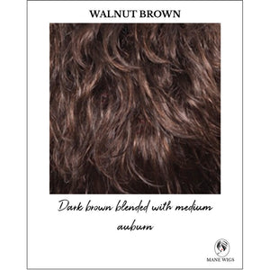 Walnut Brown-Dark brown blended with medium auburn