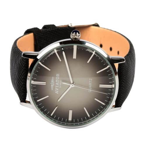 Aviator Genuine Leather Analogue Watch