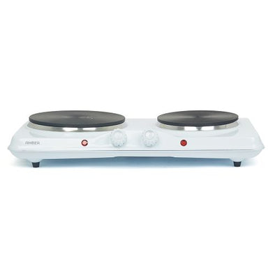 Amber Solid Double Electric Hotplate