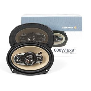 "Jebson 600W 6x9"" Coaxial 4-Way Full Range Speakers"