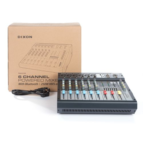 Dixon 6 Channel Powered Mixer With Bluetooth