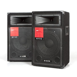"Dixon 10"" 400W DJ Speakers"