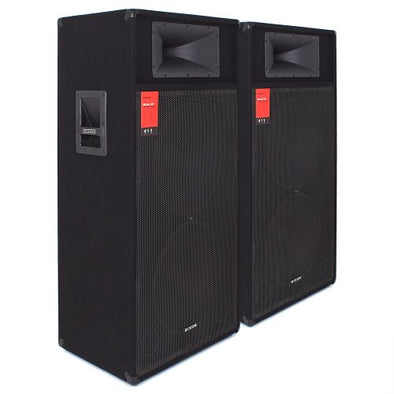 "Dixon Dual 15"" 800W DJ Speakers"