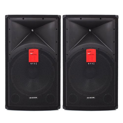"Dixon 15"" 1200W DJ Speakers"