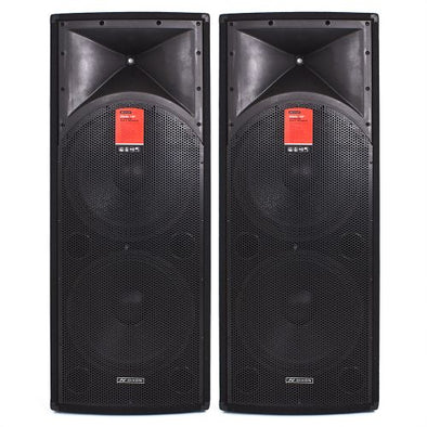 "Dixon Dual 15"" 600W DJ Speakers"