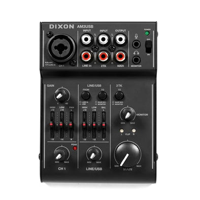 DIXON Compact 5 Channel Mixer – with USB interface