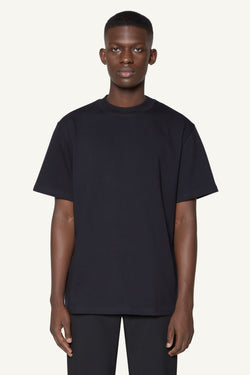 EMBROIDERED LOGO T-SHIRT - BLACK