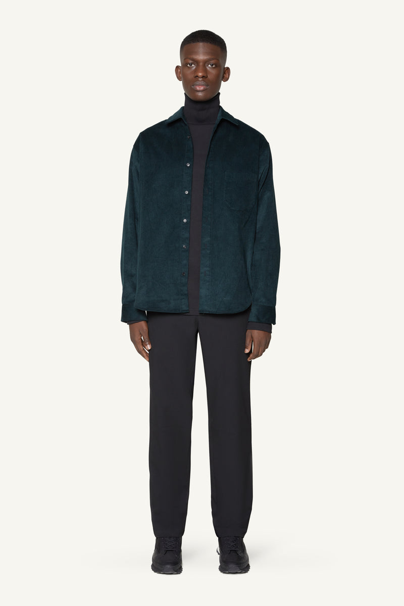 CORDUROY OVERSHIRT - FOREST GREEN