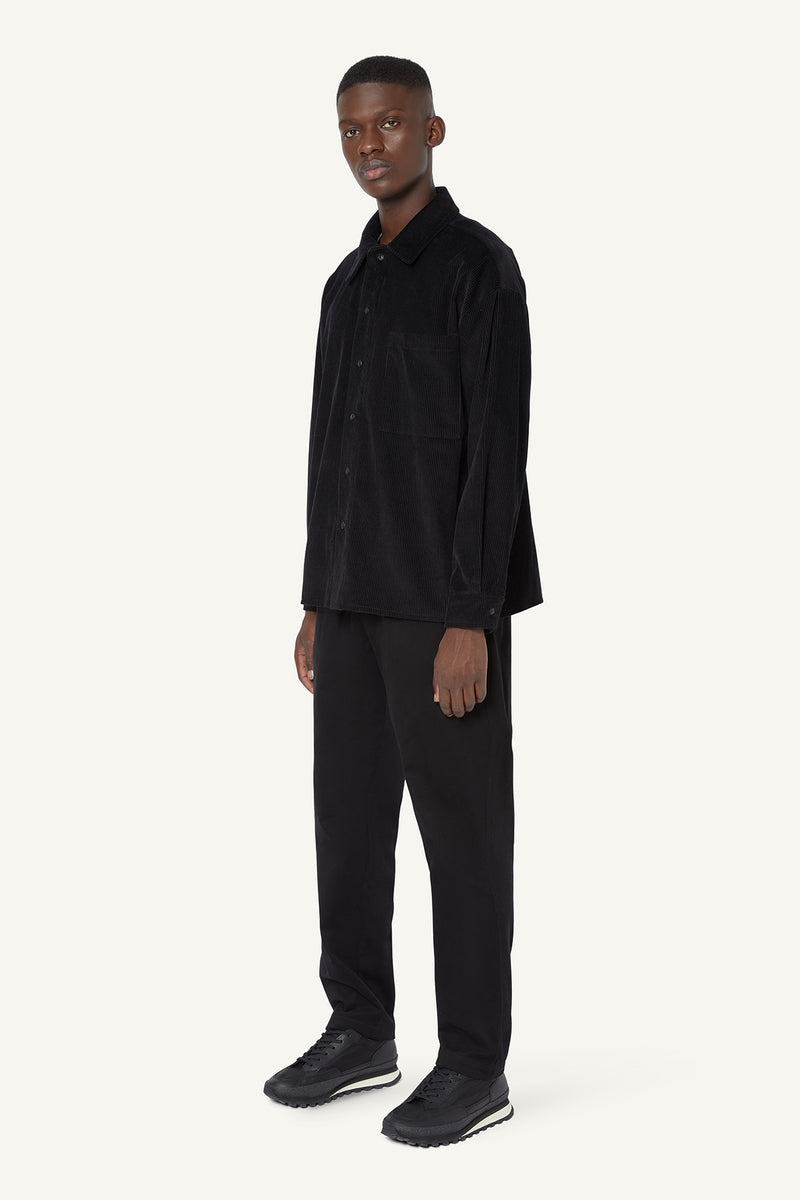 CORDUROY OVERSHIRT  - BLACK