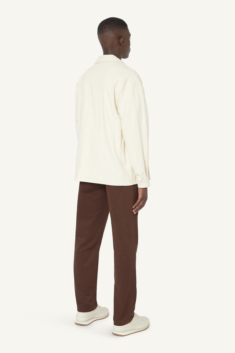 CORDUROY OVERSHIRT  - CREAM