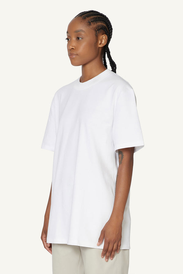 EMBROIDERED LOGO T-SHIRT - WHITE