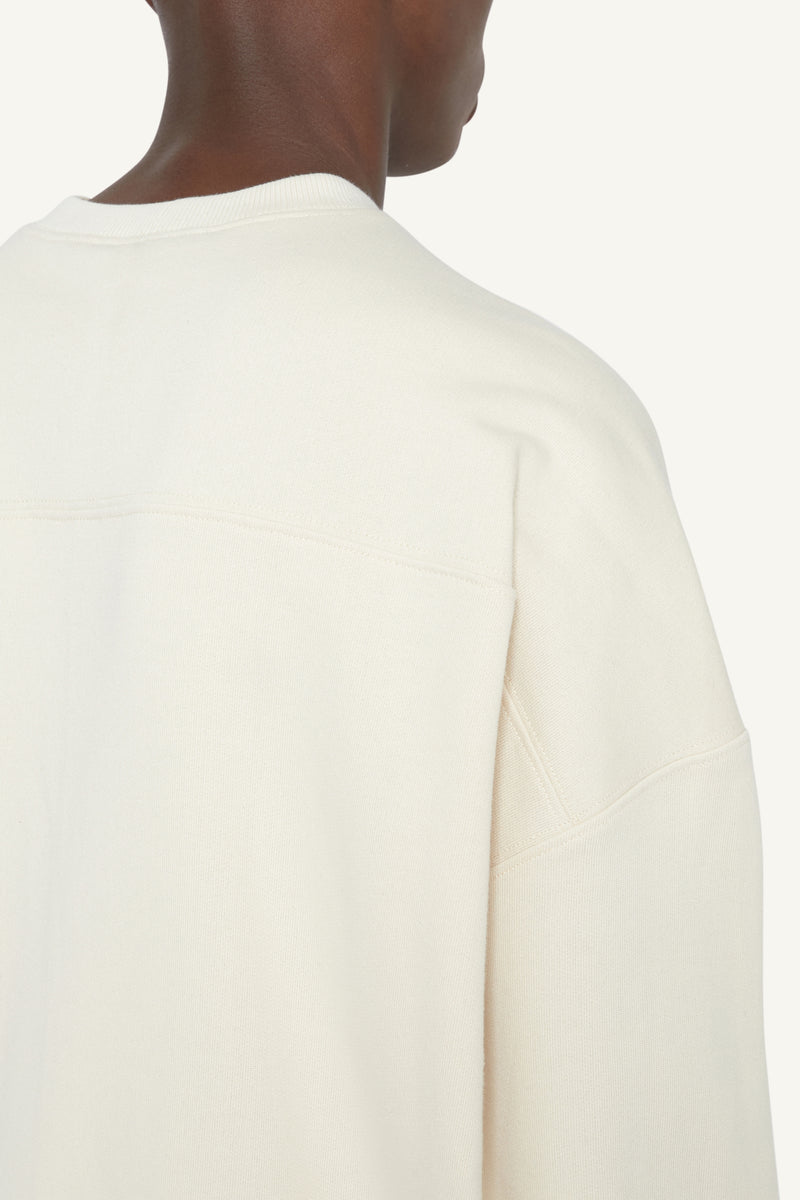 HEAVYWEIGHT CREW NECK SWEATER - CREAM