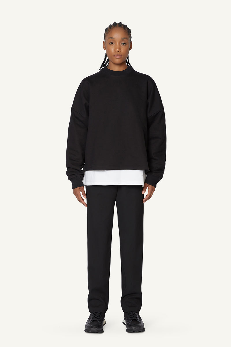 HEAVYWEIGHT SWEATER - BLACK