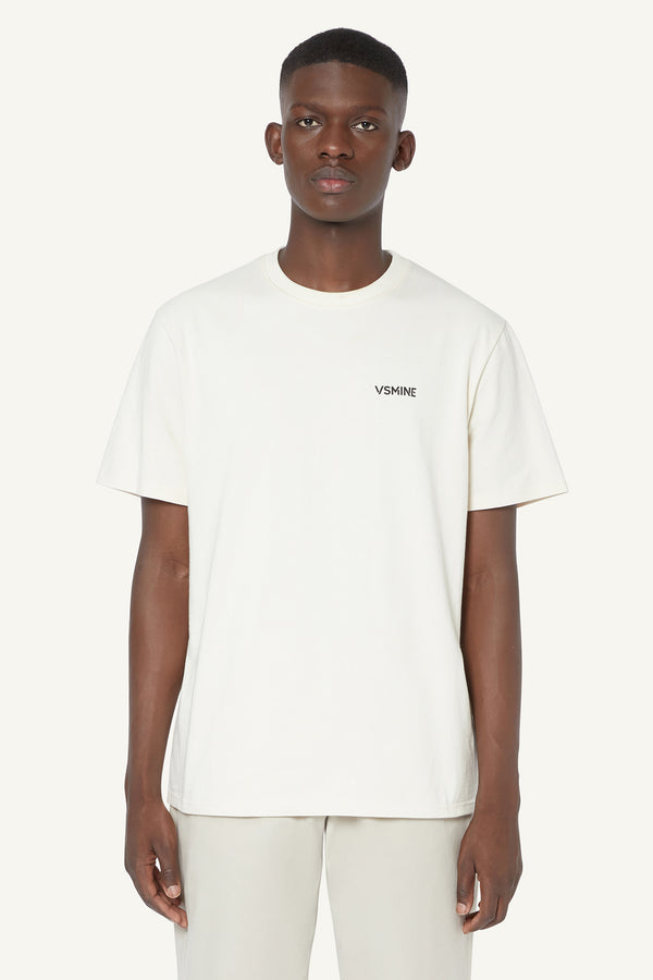 LOGO T-SHIRT - CREAM