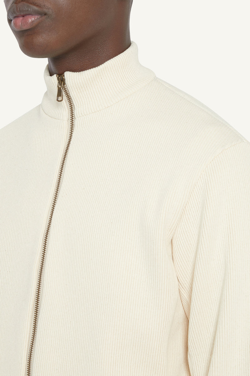 MALU RIBBED JACKET - CREAM