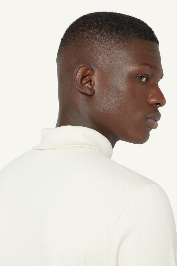 RIBBED ROLLNECK - CREAM