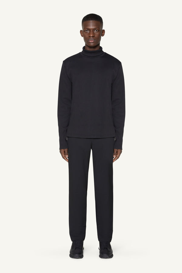 RIBBED ROLLNECK - BLACK