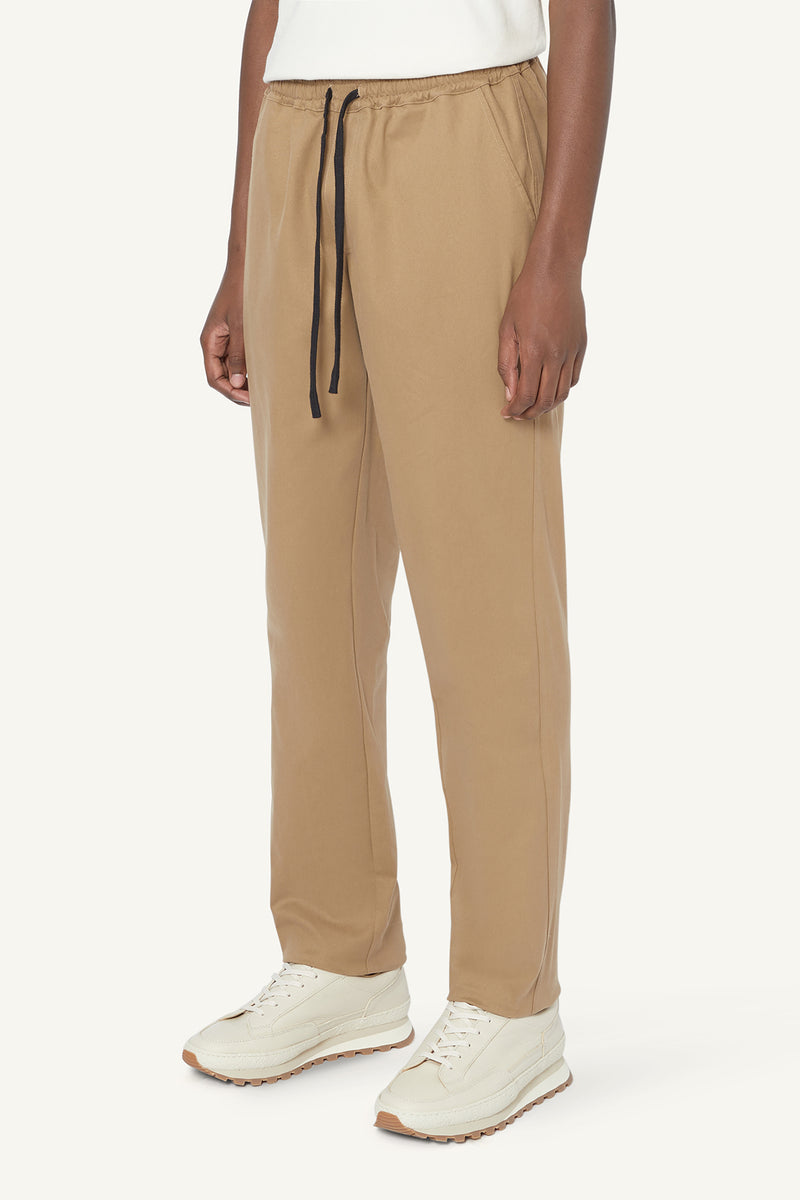 TAPERED TROUSERS - TAUPE
