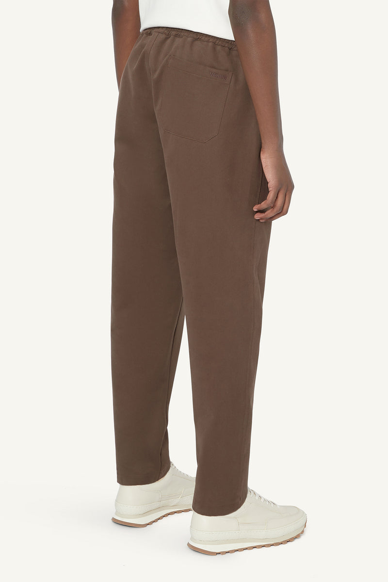 TAPERED TROUSERS - BROWN