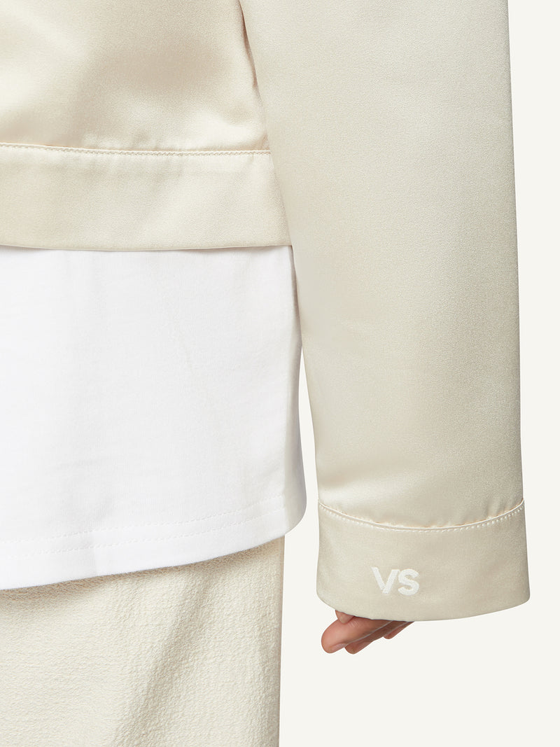 BOMBER JACKET - CREAM