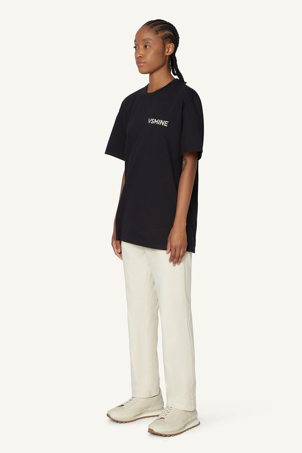 OVERSIZED LOGO T-SHIRT - BLACK