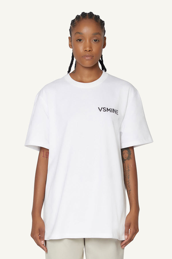 OVERSIZED LOGO T-SHIRT - WHITE