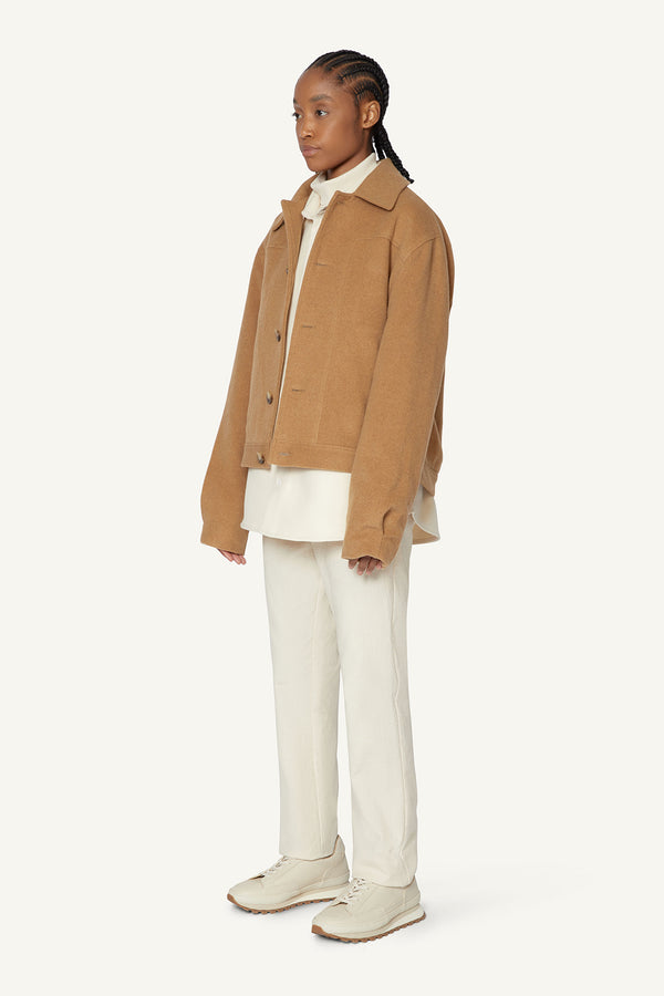 WOOL JACKET - BEIGE