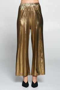 go for gold — wide-leg pants
