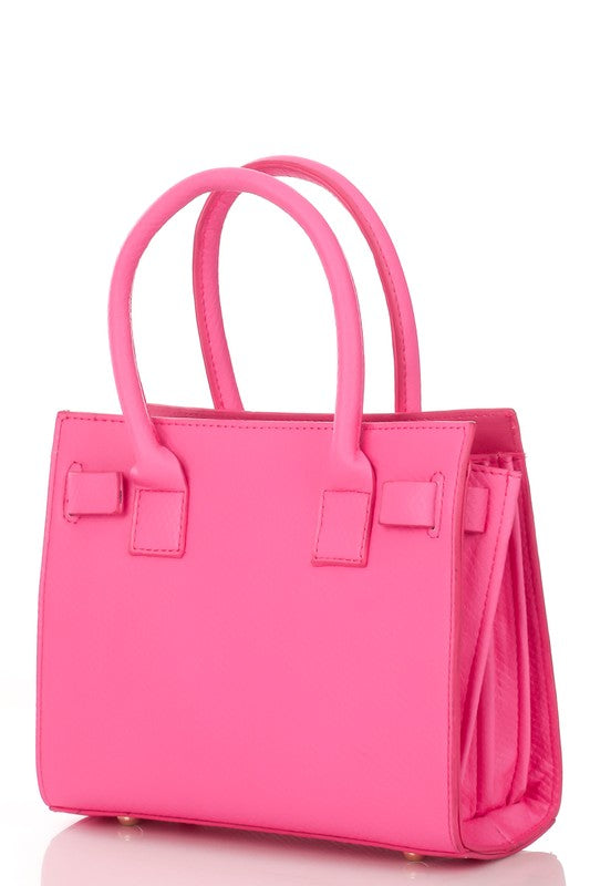 polly pocket crossbody: pink/black/neon