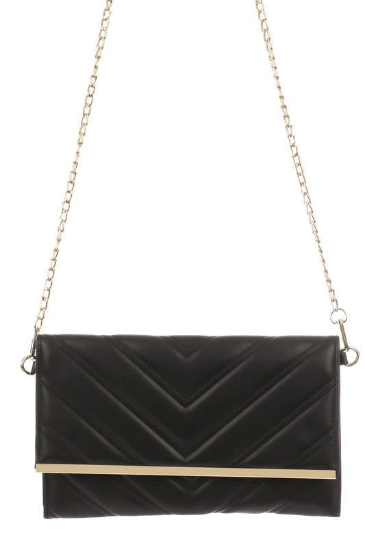 soft quilted leather clutch