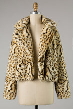 Load image into Gallery viewer, plush cheetah jacket